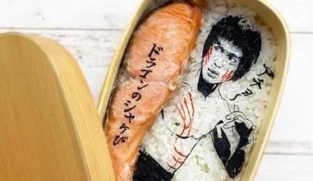 Съедобные портреты на блюдах из риса: фото удивительных работ японской художницы