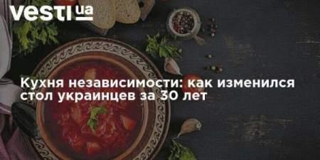 Кухня независимости: как изменился стол украинцев за 30 лет